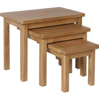 image-Ridley Nest of 3 Tables Rustic Oak