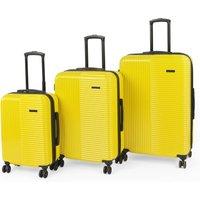 Constellation Runway Hard Gloss Yellow 8 Wheel Suitcase Yellow