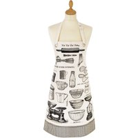 Ulster Weavers Vintage Baking Oil Cloth Apron Grey, Black and White