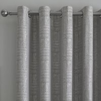 Curtina Lowe Woven Charcoal Eyelet Curtains Charcoal