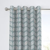 Fusion Delft Duck Egg Eyelet Curtains Blue and White