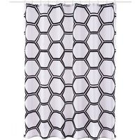 image-Honeycomb Shower Curtain MultiColoured