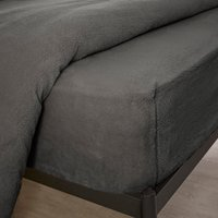 Teddy Bear Fitted Sheet Charcoal