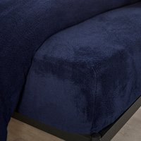Teddy Bear Fitted Sheet Navy