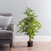 image-Outdoor Artificial Ficus Tree 100cm Green