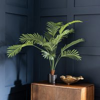 image-Artificial Areca Palm Plant 96cm Green