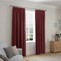 Cloudmont Chenille Merlot Thermal Pencil Pleat Curtains Wine (Red)