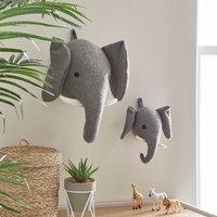 Elephant Wall Head Grey