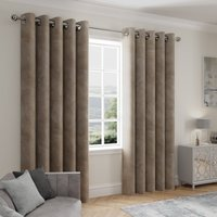 Stellar Thermal Mink Eyelet Curtains Brown