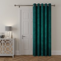 Stellar Thermal Teal Door Curtain Teal (Blue)