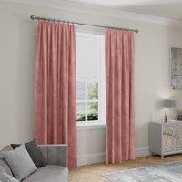 Stellar Thermal Rose Pencil Pleat Curtains Rose (Pink)