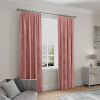 Stellar Thermal Rose Pencil Pleat Curtains Rose (Pink)