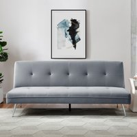 Juno Velvet Sofa Bed - Blush Grey
