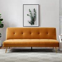 Juno Velvet Sofa Bed - Blush Mustard