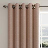 Hudson Blush Eyelet Curtains Blush Pink