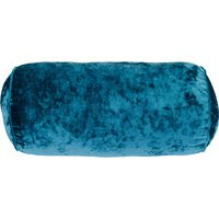 Bolster Crushed Velour Cushion Peacock (Blue)