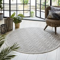 image-Indoor Outdoor Mondo Natural Circle Geometric Rug Mondo Natural