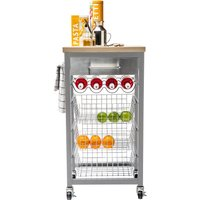 image-Sandon Grey Kitchen Trolley Grey