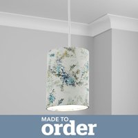 image-Made to Order 21cm Tall Cylinder Shade Camille Navy