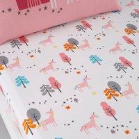 Cosatto Unicornland 100% Cotton Fitted Sheet Twin Pack Pink