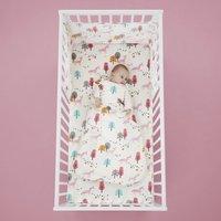 Cosatto Unicornland 100% Cotton 2.5 Tog Baby Sleeping Bag Pink, Yellow and White