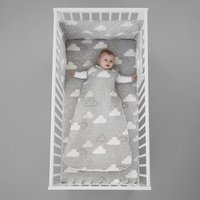 Cosatto Fairy Clouds 100% Cotton 2.5 Tog Baby Sleeping Bag Grey, White and Black