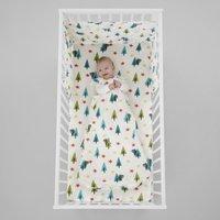 Cosatto Dragon Kingdom 100% Cotton 2.5 Tog Baby Sleeping Bag White, Blue and Green