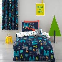 Cosatto Dragon Kingdom 100% Cotton Duvet Cover and Pillowcase Set Blue