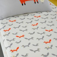 Cosatto Mister Fox 100% Cotton Fitted Sheet Twin Pack Grey