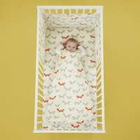 Cosatto Mister Fox 100% Cotton 2.5 Tog Baby Sleeping Bag White, Grey and Orange
