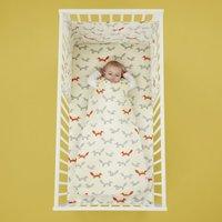 Cosatto Mister Fox 100% Cotton 2.5 Tog Baby Sleeping Bag Grey, Orange and Yellow