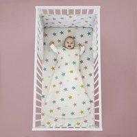 Cosatto Happy Stars 100% Cotton Baby Sleeping Bag Pink