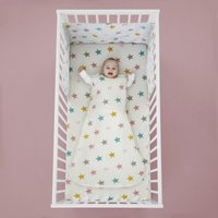 Cosatto Happy Stars 100% Cotton 2.5 Tog Baby Sleeping Bag White, Pink and Yellow