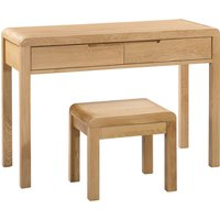 image-Curve 2 Drawer Dressing Table and Stool Oak