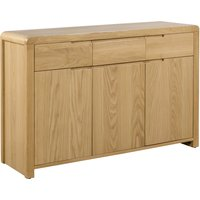 Curve Oak Sideboard Oak