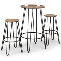 image-Dalston Bar Set with 2 Stools Black