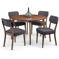 Farringdon Dining Table with 4 Chairs Brown
