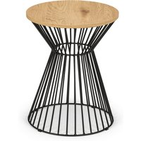Jersey Round Wire Lamp Table Brown