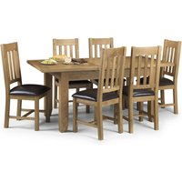 Astoria Extending Dining Table with 6 Chairs Oak