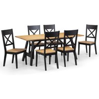 Hockley Dining Table with 6 Chairs Black