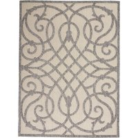 image-Cozumel Scroll Indoor Outdoor Rug Cozumel Scroll Grey and Cream
