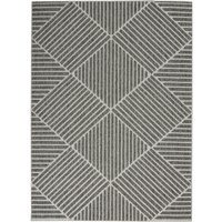 image-Cozumel Stripe Indoor Outdoor Rug Cozumel Stripe Charcoal