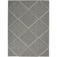 Cozumel Stripe Indoor Outdoor Rug Cozumel Stripe Charcoal