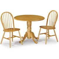 Dundee Dining Table with 2 Windsor Chairs Yellow