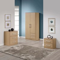 Jasper Bedroom Set - Oak Mid Oak (Brown)
