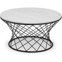image-Trevi Real Marble Coffee Table White