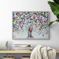 image-Wishing Tree Framed Print MultiColoured