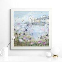 image-Harbour In Bloom Framed Print MultiColoured