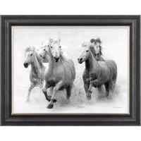 image-Wild Horses Framed Print Grey