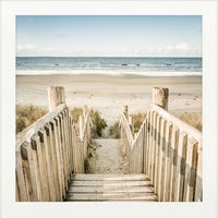 image-Beach Pathway Framed Print MultiColoured